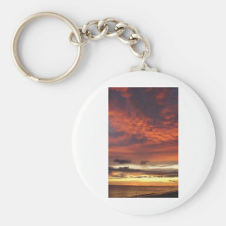 Sunset on Fort Myers Beach Key Chain