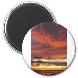 Sunset on Fort Myers Beach Refrigerator Magnets