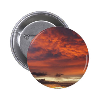 Sunset on Fort Myers Beach Pinback Buttons