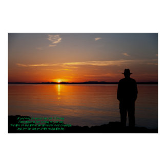 Sunset On Galway Bay Poster