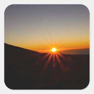 Sunset on Haleakala Volcano Square Sticker