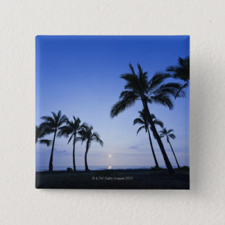 Sunset on Kahaluu Bay in Kona,Hawaii 15 Cm Square Badge