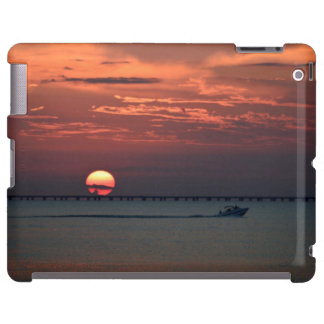 Sunset on Lake -  iPad case