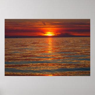 Sunset on Lake Michigan 4 Print