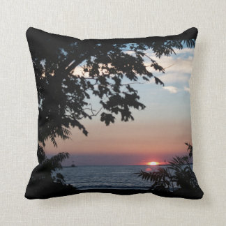 Sunset on Lake Onatrio Throw Cushion