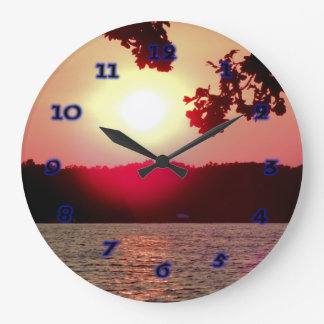 Sunset on Lake Wallclocks