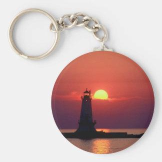 Sunset On Lighthouse Key Ring
