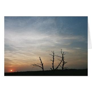 Sunset on mount St. Pieter Card