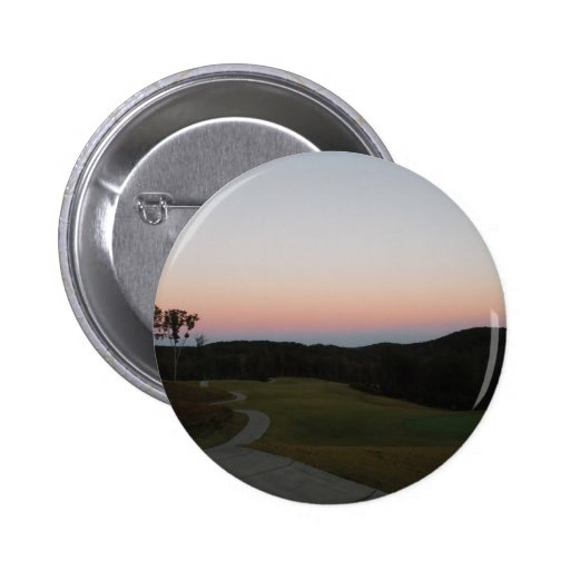 Sunset on Mountains, Lake Arrowhead Golf Course Pins