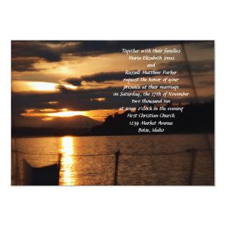 Sunset on on a Sail Boat Wedding 13 Cm X 18 Cm Invitation Card
