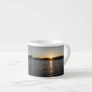 Sunset on Onota Lake: Horizontal Espresso Mug
