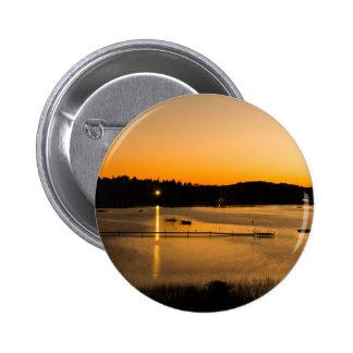 Sunset on Pickerel Lake 6 Cm Round Badge