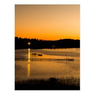 Sunset on Pickerel Lake Postcard