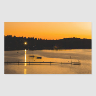 Sunset on Pickerel Lake Rectangular Sticker