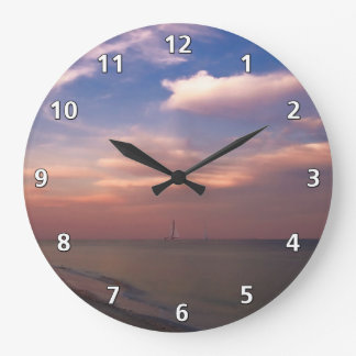 Sunset on Sanibel Island Large Clock