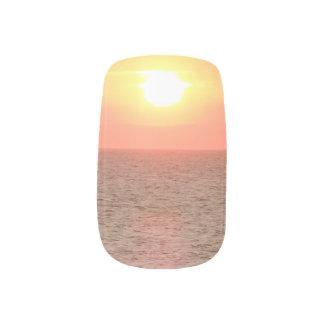 Sunset on Sea Minx Nail Art