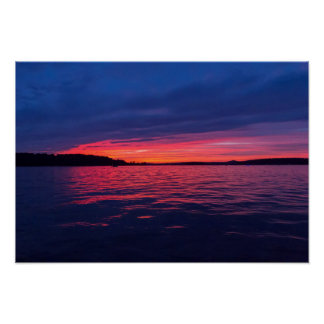 Sunset on Seneca Lake, Ohio Poster