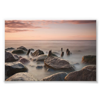 Sunset on shore of the Baltic Sea Photograph