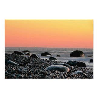 Sunset on the Baltic Sea coast Photograph
