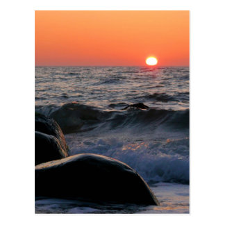 Sunset on the Baltic Sea coast Postcard