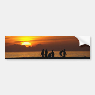 Sunset On The Beach Bumper Stickers
