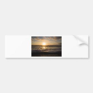 Sunset On the beach Bumper Sticker