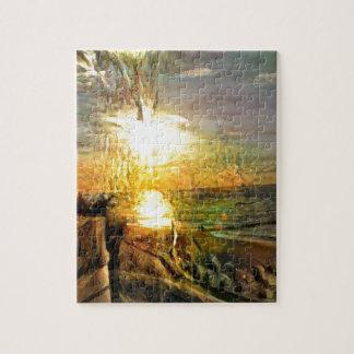 Sunset on the Beach Jigsaw Puzzle