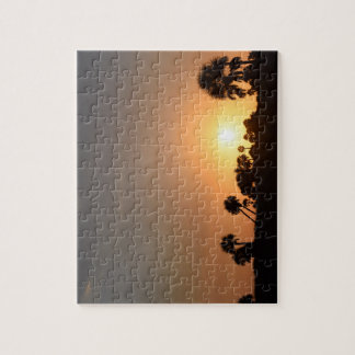 Sunset on the Beach Puzzle