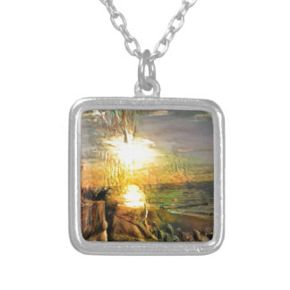 Sunset on the Beach Silver Plated Necklace