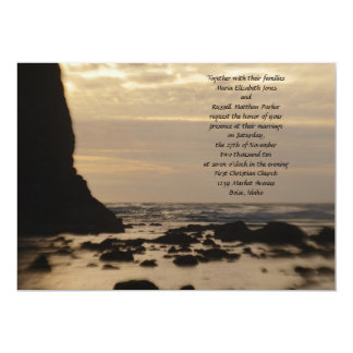 Sunset on the Beach Wedding Card