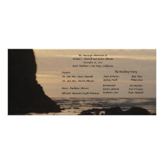 Sunset on the Beach Wedding Program Rack Card Template