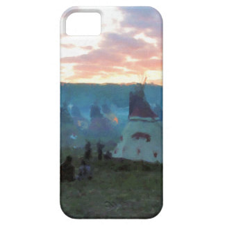 Sunset on the camp iPhone 5 cover