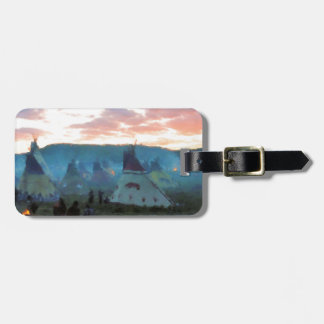 Sunset on the camp luggage tag
