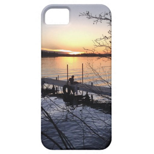 Sunset on the dock iPhone 5/5S case