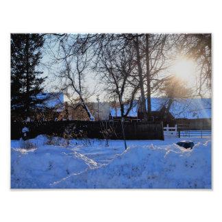 Sunset On The Farm Photo Print