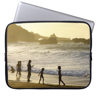 Sunset On The French Beach Landscape Laptop Sleeve