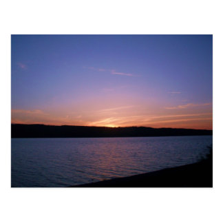SUNSET ON THE HUDSON RIVER,  NEW YORK postcard