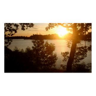 Sunset On The Lake Business Card