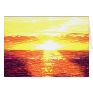 Sunset on the Lake Card
