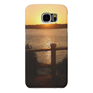 Sunset on the lake samsung galaxy s6 cases