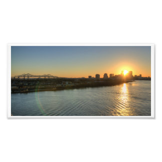 Sunset on the Mississippi Photographic Print