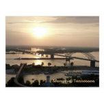 Sunset on the Mississippi River Postcard