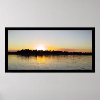 Sunset on the Mississippi River Poster