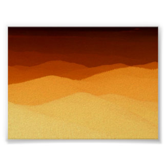 Sunset on the mountains poster