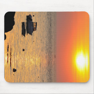 Sunset on the ocean at Portivy in Brittany Mouse Pad