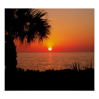Sunset on the Ocean Poster