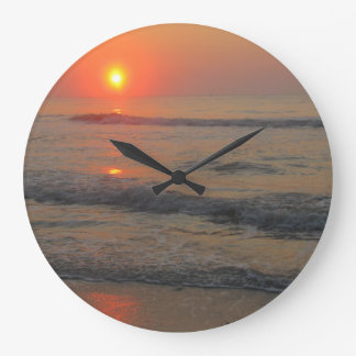 Sunset on the Ocean Wall Clock