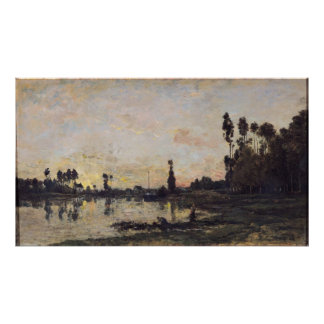 Sunset on the Oise, 1865 Poster