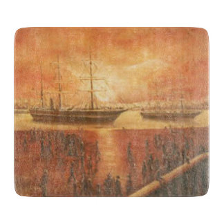 Sunset on the Past Cutting Board