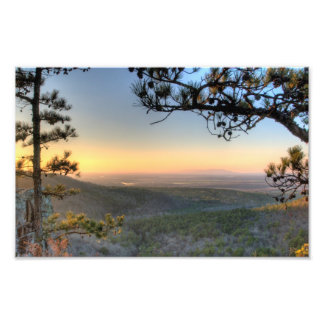 Sunset on the Petit Jean river valley, Arkansas Photo Print